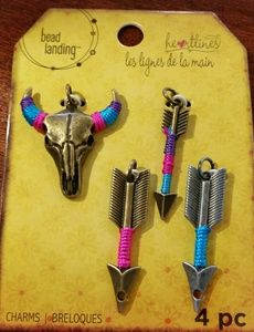4 Piece American Indian Western Jewelry Charms
